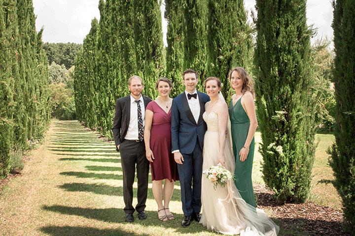 Hochzeitsbild Familie Weingut Mussler