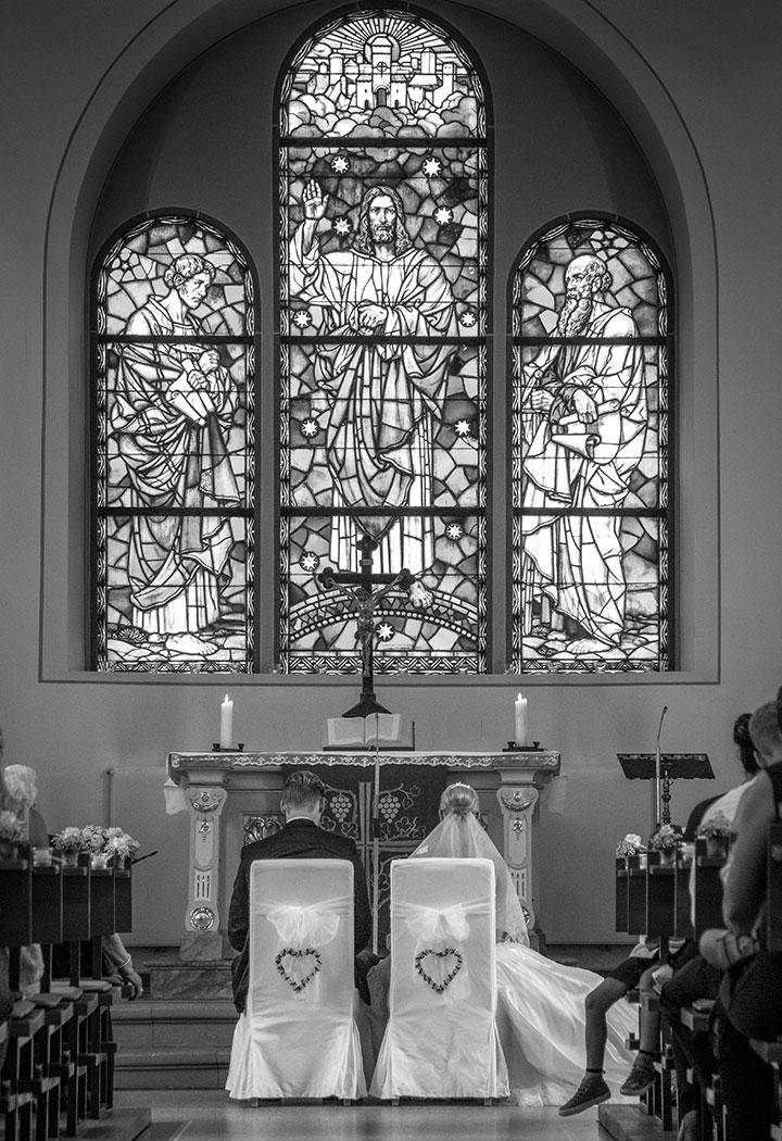 Kirchliche Hochzeit in Schwetzingen nahe Mannheim