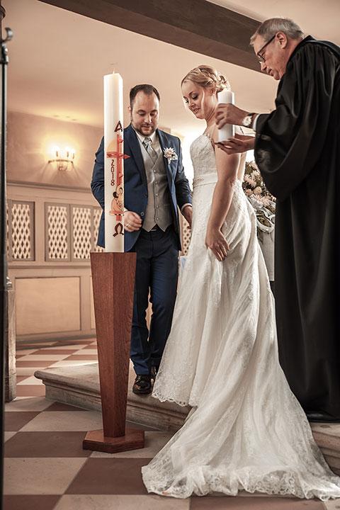 Hochzeitsbild bei einer kirchlichen Trauung in Mutterstadt