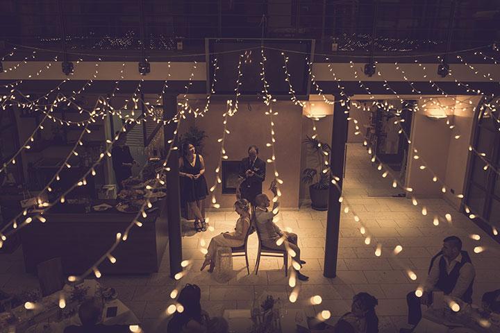Vintage Hochzeitsbild von einer Hochzeitsfeier im Weingut Mussler