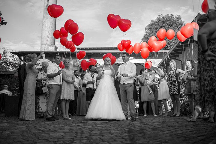 Kreatives Hochzeitsbild mit Ballons von Pascal Dietrich aus Weinheim